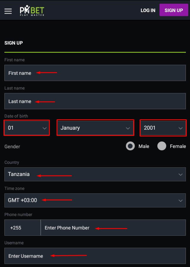 pmbet registration