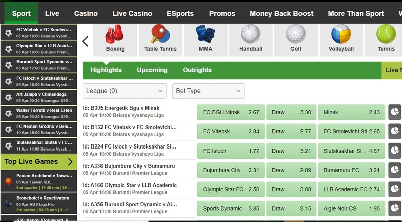 betway markets