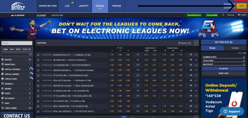 gal sports bet registration