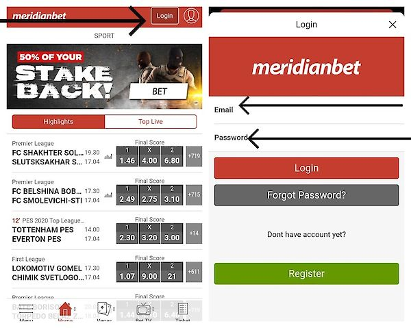 meridianbet mobile registration