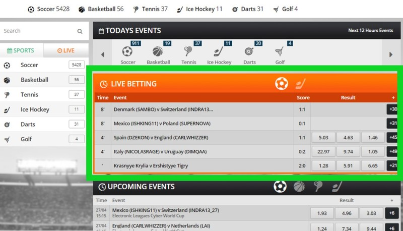 princessbet live betting